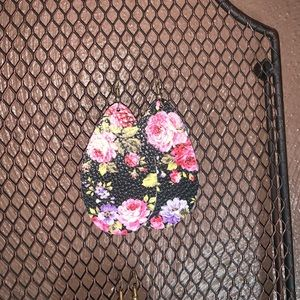 Jewelry - Floral print Earrings (Soft Cloth Material)